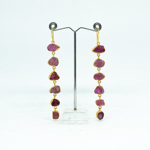 Handmade Red Garnet Earrings - one off piece - Beths Emporium