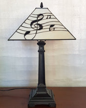 Load image into Gallery viewer, Leadlight Style Musical Treble Clef Table Lamp - Beths Emporium