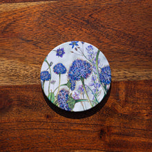 Load image into Gallery viewer, Coaster -  Brunonia Blue Pincushion - Australian Native Flora - Beths Emporium