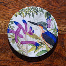 Load image into Gallery viewer, Coaster - Kingfisher on Kangaroo Paw - Australian Native - Beths Emporium
