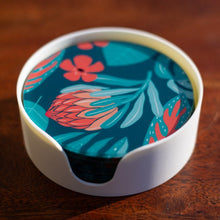 Load image into Gallery viewer, Set of Coasters - Waratah - Australian Native - Beths Emporium