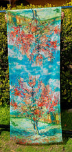 Load image into Gallery viewer, Cotton Impressionist Art Scarf - van Gogh : The Pink Peach Tree