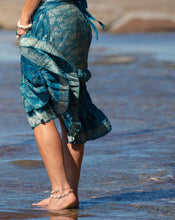 Load image into Gallery viewer, Sari Silk Boho Wrap Skirt - Brocade with Gold Thread - Avoca Collection