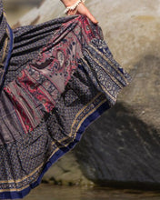 Load image into Gallery viewer, Sari Silk Boho Wrap Skirt - Dusky Delight - Avoca Collection