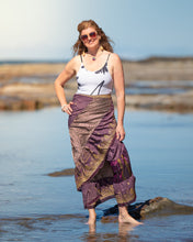 Load image into Gallery viewer, Sari Silk Boho Wrap Skirt - Bohemian Opulence - Avoca Collection