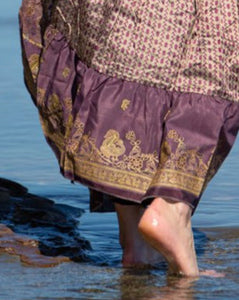 Sari Silk Boho Wrap Skirt - Bohemian Opulence - Avoca Collection