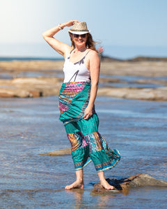 Sari Silk Boho Wrap Skirt - Over the Rainbow - Avoca Collection