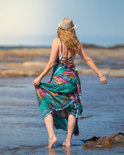 Load image into Gallery viewer, Sari Silk Boho Wrap Skirt - Over the Rainbow - Avoca Collection