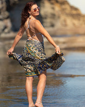 Load image into Gallery viewer, Sari Silk Boho Wrap Skirt - Luxurient Summer Days- Avoca Collection