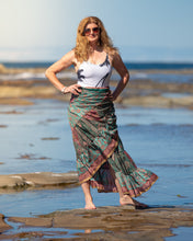 Load image into Gallery viewer, Sari Silk Boho Wrap Skirt - Natural Pallete - Avoca Collection