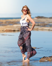 Load image into Gallery viewer, Sari Silk Boho Wrap Skirt - Dusk - Avoca Collection