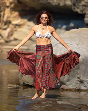 Load image into Gallery viewer, Flowing Indian Silk Skirt - Earth Princess - Avoca Collection