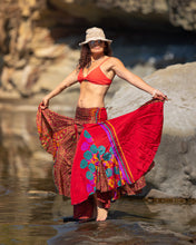 Load image into Gallery viewer, Flowing Indian Silk Skirt - Summer Holidays! - Avoca Collection