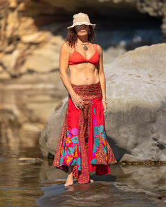 Flowing Indian Silk Skirt - Summer Holidays! - Avoca Collection