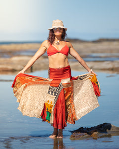 Flowing Indian Silk Skirt - Sunshine! - Avoca Collection