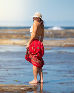 Embroidered Cotton Skirt - Summer Sizzle! - Avoca Collection