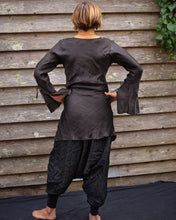 Load image into Gallery viewer, Black & Red Silk Boho Shirt/Dress - Beths Emporium