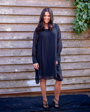 Load image into Gallery viewer, Black Silky Dress - Beths Emporium
