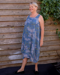 Blue Floral Dress - Beths Emporium