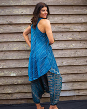 Load image into Gallery viewer, Blue Silk Boho Singlet Dress/Shirt - Beths Emporium
