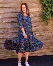 Load image into Gallery viewer, The Magic Dress - Blue with Red Trim - Beths Emporium