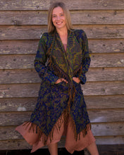 Load image into Gallery viewer, Soft Boho Indian Jacket - Navy - Beths Emporium