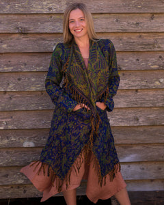 Soft Boho Indian Jacket - Navy - Beths Emporium