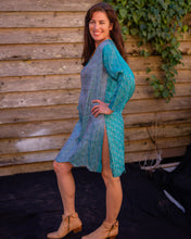 Load image into Gallery viewer, Aqua Silk Boho Shirt/Dress - Beths Emporium