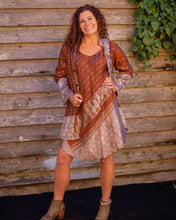 Load image into Gallery viewer, Choclate & Silver Boho Singlet Dress/Shirt - Beths Emporium