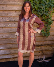 Load image into Gallery viewer, Walnut & Gold Boho Dress/Shirt - Beths Emporium
