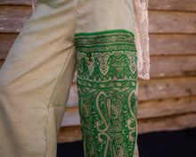 Load image into Gallery viewer, Patchwork green Silky Boho Gypsy Pants - Beths Emporium