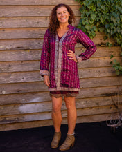 Load image into Gallery viewer, Burgundy Pink & Silver Boho Jacket - Beths Emporium