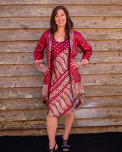 Load image into Gallery viewer, Ruby & Gold Boho Jacket - Beths Emporium