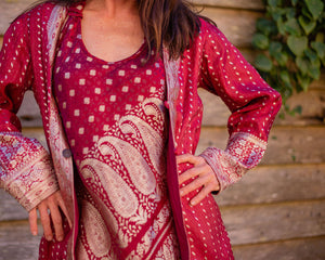 Ruby & Gold Boho Jacket - Beths Emporium