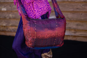 Bag Purple Silk Boho - Beths Emporium