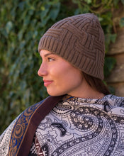 Load image into Gallery viewer, Basket Weave Furry Lined Beanie - Beths Emporium