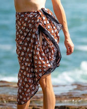 Load image into Gallery viewer, Artisan Sarong - Tribal Warrior - Hand Block Printed - 100% Cotton