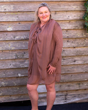 Load image into Gallery viewer, Brown Silky Jacket - Beths Emporium