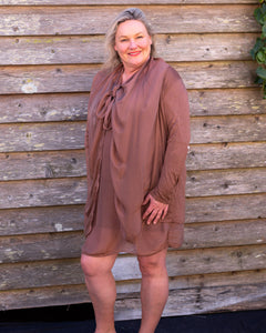 Brown Silky Jacket - Beths Emporium
