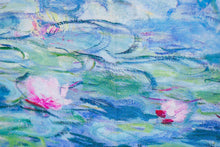 Load image into Gallery viewer, Cashmere Impressionist Art Scarf - Monet Waterlilies