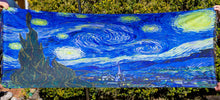 Load image into Gallery viewer, Cashmere Impressionist Art Scarf - van Gogh : Starry Night