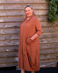 Terracotta Jersey Dress - Beths Emporium