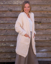 Load image into Gallery viewer, Chunky Knit Cardigan - with knotted trim - Beths Emporium