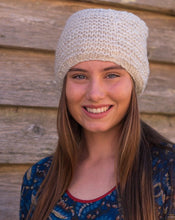 Load image into Gallery viewer, Hand Knitted Wool Beanie - Natural - Beths Emporium