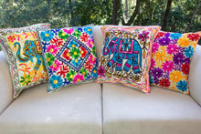 Load image into Gallery viewer, Creative Colours of India  - Embroidered Cushion - Bombay Beauty - Beths Emporium