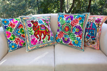 Load image into Gallery viewer, Creative Colours of India  - Embroidered Cushion - Rajasthan Roaming - Beths Emporium