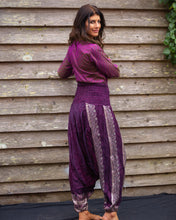 Load image into Gallery viewer, True Purple & Silver Jeannie Boho Pants - Beths Emporium