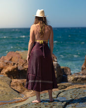 Load image into Gallery viewer, Sleek Sari Silk Wrap Skirt - Mystic Musk - Avoca Collection