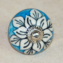 Load image into Gallery viewer, Hand Painted Antique Ceramic Door Drawer Knob - Peaceful River - Beths Emporium