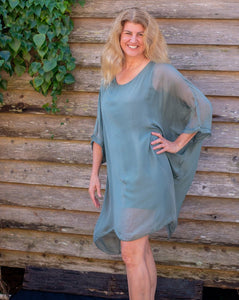 Finanza Silky Shirt or Dress - Beths Emporium